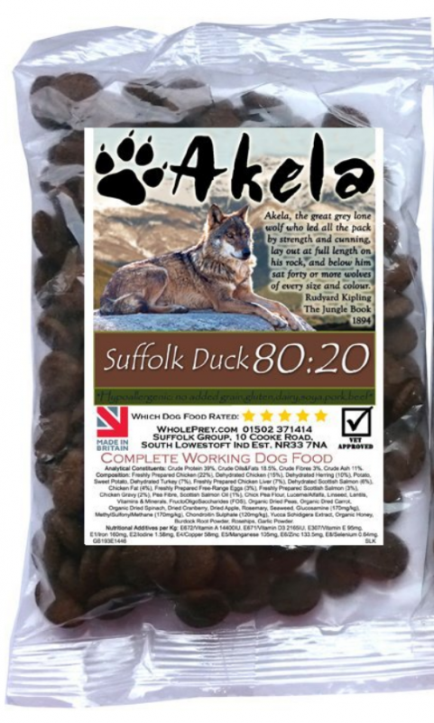 Akela Suffolk Duck Small Paws 10 kg, 1.5 kg kjøp billig med rabatt