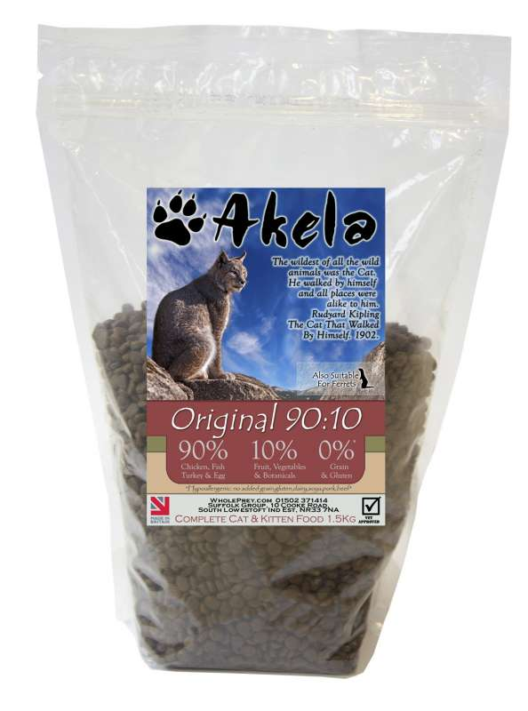 Akela Original with Chicken, Fish, Turkey and Eggs 1.5 kg 5060315016764 ervaringen