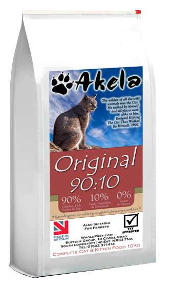 Akela Original with Chicken, Fish, Turkey and Eggs 10 kg, 1.5 kg test