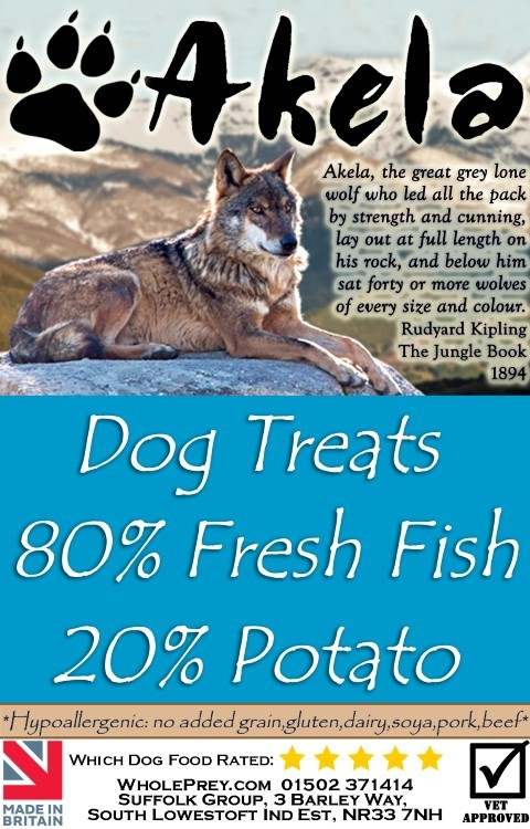Akela Training Treats fresh Fish & Potato 100 g, 500 g