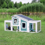 Trixie Natura small Animal Hutch with 2 Enclosures Aqua