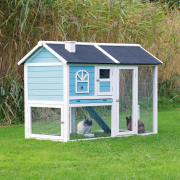Trixie Natura small Animal Hutch with Enclosure Sky blue
