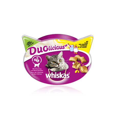 Whiskas Duolicious Chicken & Yogurt 66 g, 55 g test