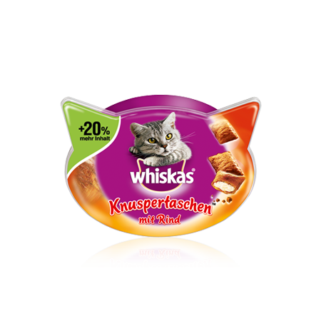 Whiskas Temptations Oksekød 60 g, 72 g test