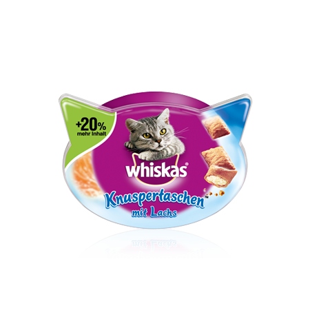 Whiskas Temptations Lohi 60 g, 72 g