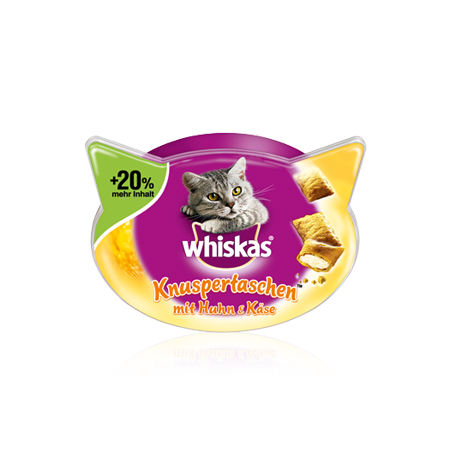 Whiskas Temptations Kylling & Ost 72 g