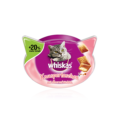Whiskas Temptation Seafood 60 g, 72 g test