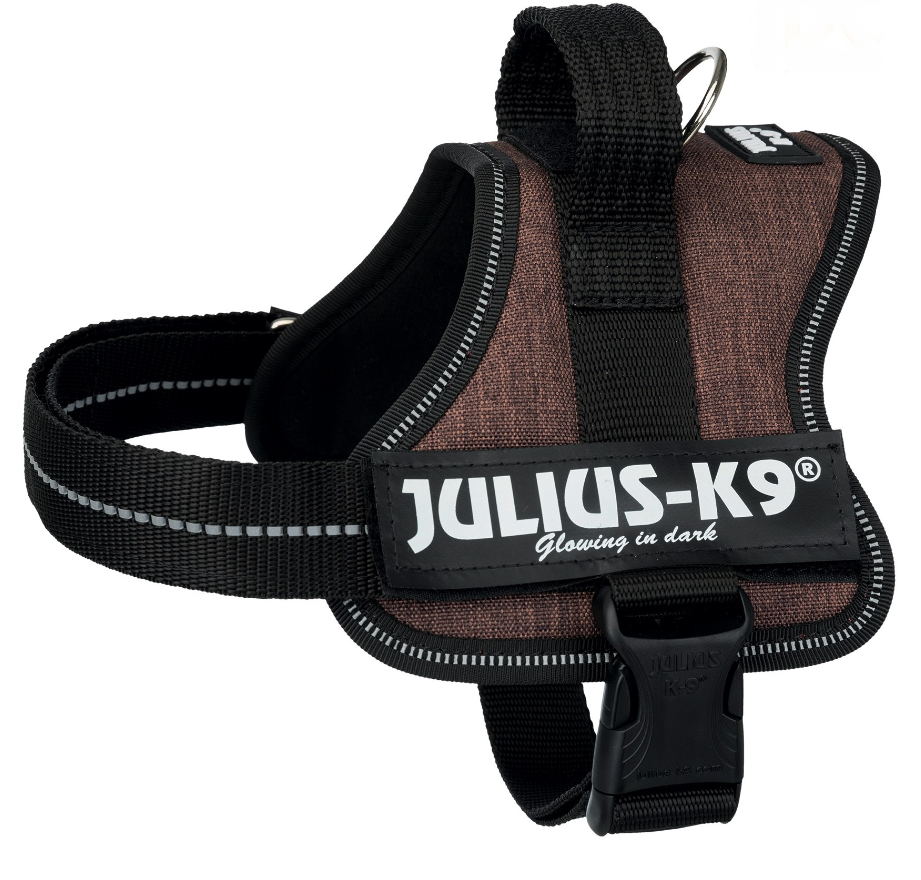Julius K9 Power Arneses, Mini-Mini/S  Marrom escuro S
