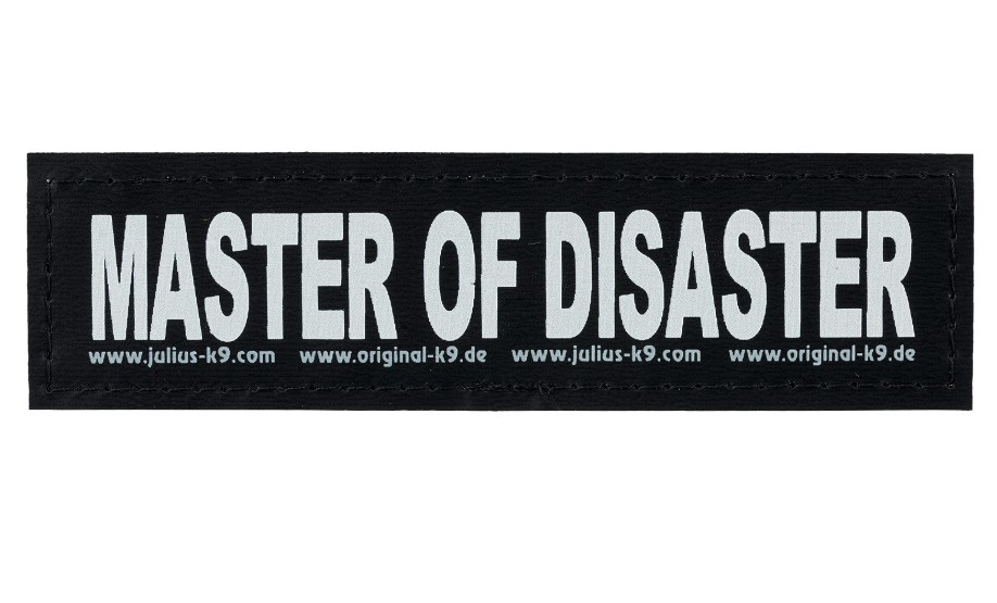 "Julius K9 Attachable Labels ""Master of disaster"" S MASTER OF DISASTER"