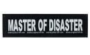 "Tekstlabels ""Master of disaster"" S"