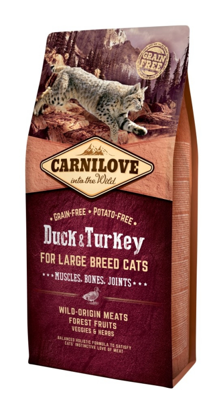 Carnilove Adult Large Breed Cat Duck & Turkey 6 kg