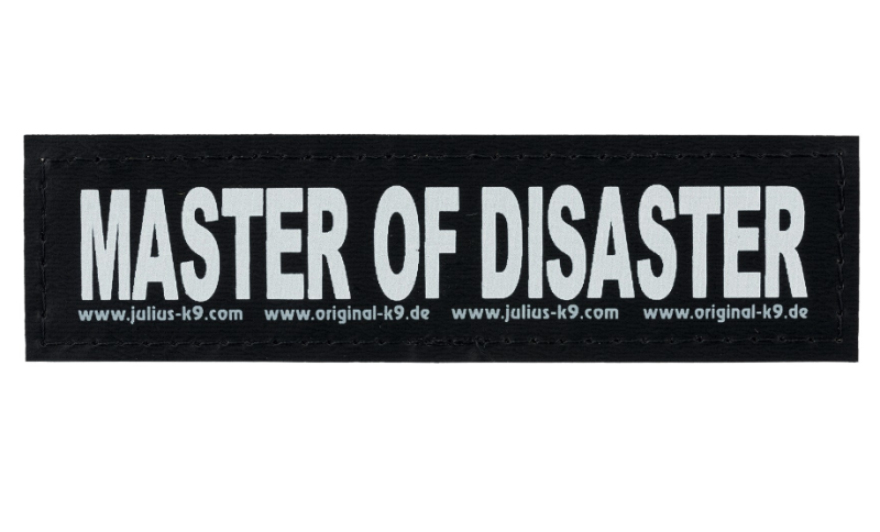 "Julius K9 Klettsticker ""Master of disaster"" L MASTER OF DISASTER"