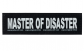 "Julius K9 Tekstlabels ""Master of disaster""  L MASTER OF DISASTER"