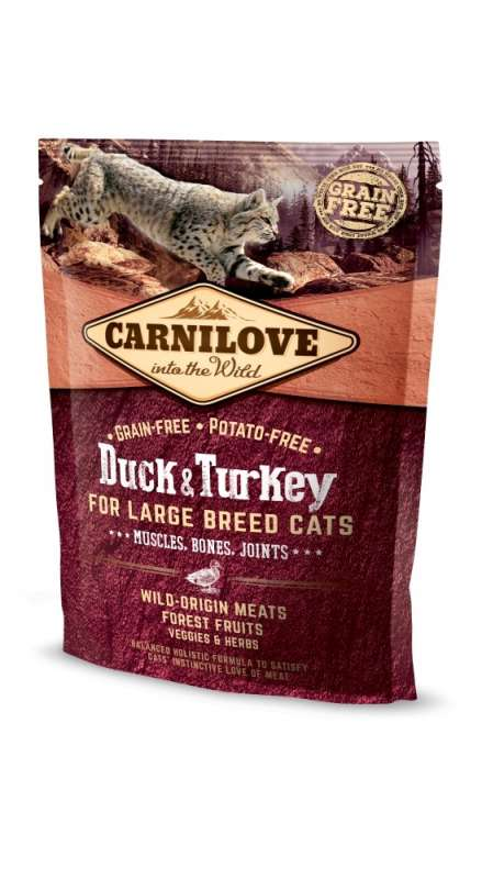 Carnilove Adult Large Breed Cat Pato & Pavo 6 kg, 400 g, 2 kg prueba