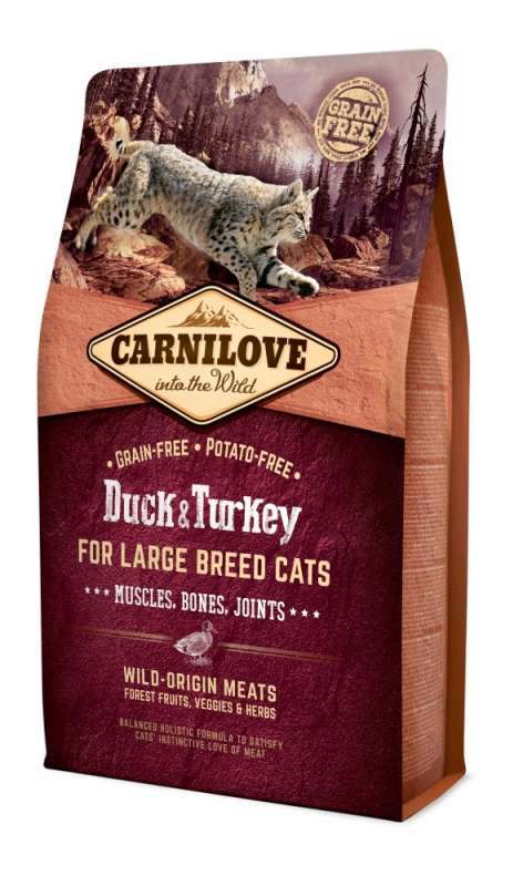 Carnilove Adult Large Breed Cat Pato & Pavo 2 kg 8595602512768 opiniones
