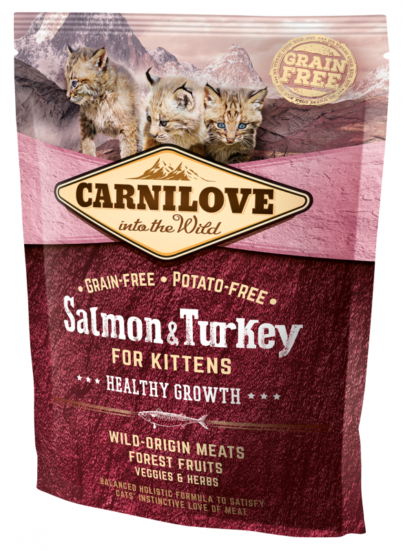 Carnilove Healthy Growth for Kittens Salmón & Pavo 400 g 8595602512232 opiniones