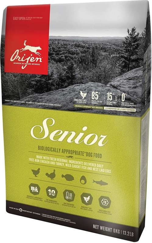Orijen Senior Whole Prey 6 kg, 340 g, 2 kg, 11.4 kg kjøp billig med rabatt