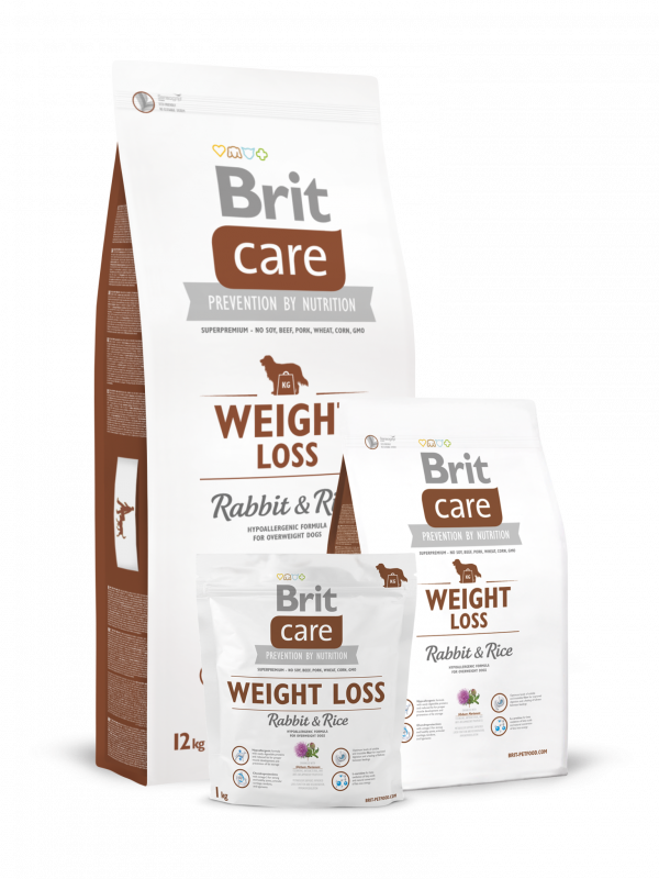 Brit Care Weight Loss med Kanin og Ris 3 kg, 12 kg, 1 kg