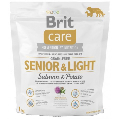 brit care grain free senior salmon  potato