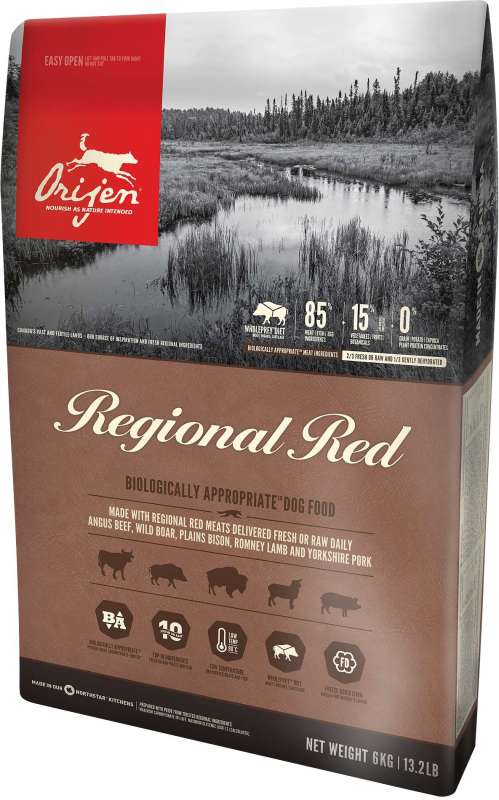 Orijen Regional Red Whole Prey 11.4 kg, 2 kg, 340 g, 6 kg bei Zoobio.at
