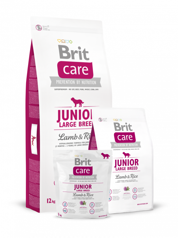 Brit Care Junior Large Breed met Lam & Rijst 3 kg, 12 kg, 1 kg test