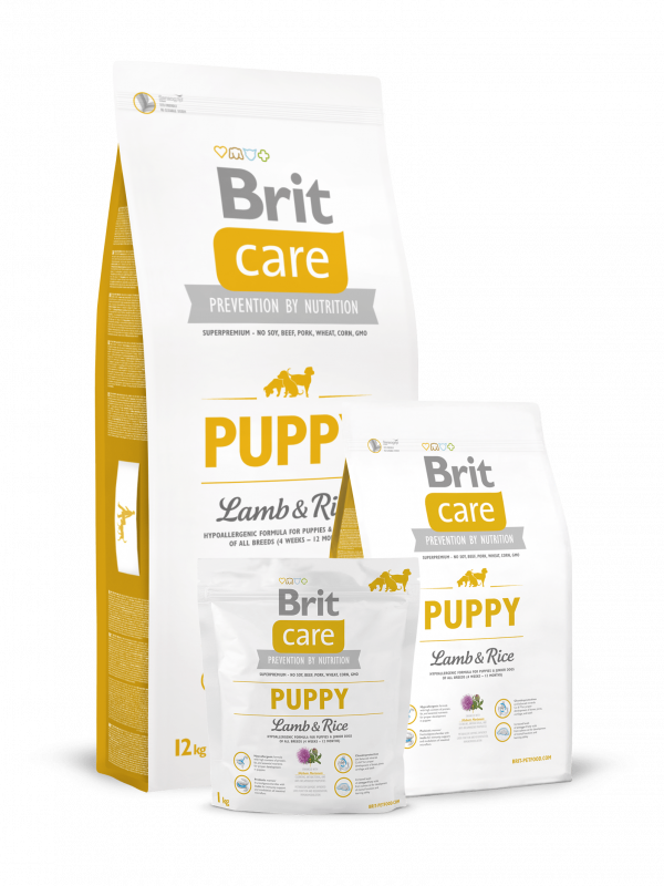 Brit Care Puppy med Lamm och Ris 3 kg, 12 kg, 1 kg test