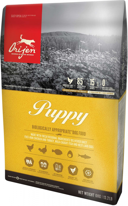 Orijen Puppy Whole Prey 6 kg, 340 g, 2 kg, 11.4 kg