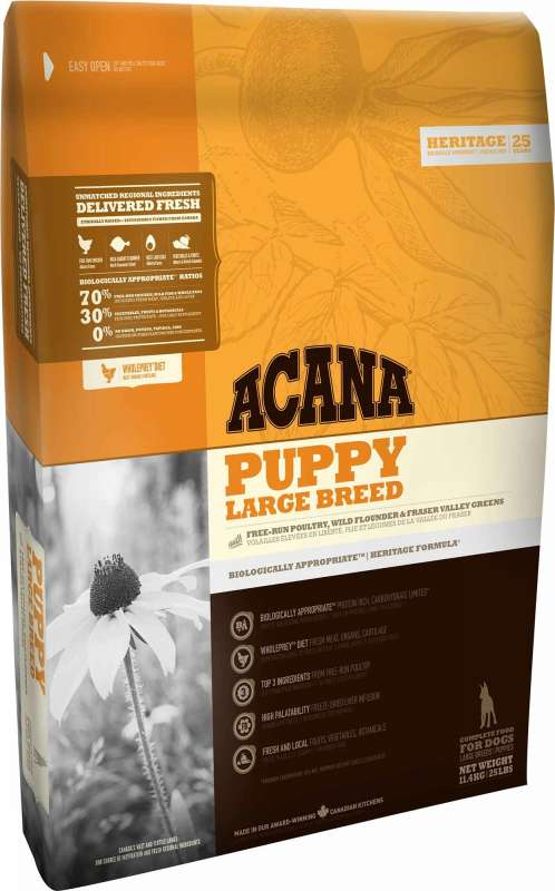 Acana Heritage Puppy Large Breed 17 kg, 11.4 kg