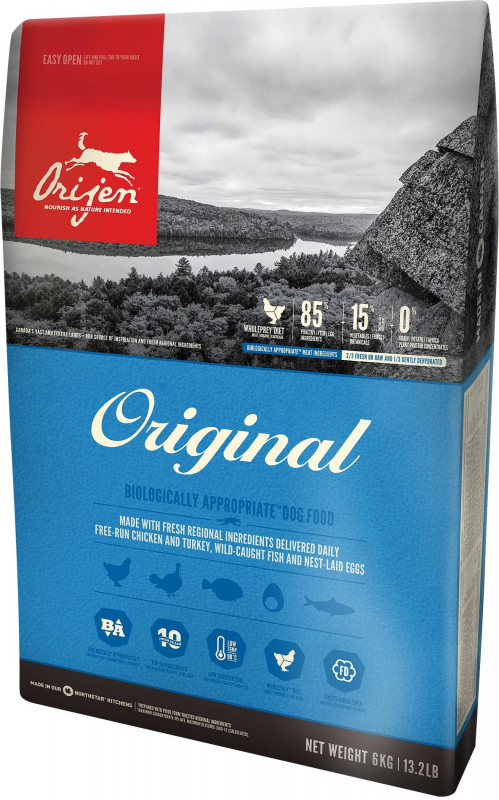 Orijen Original Dog Whole Prey 6 kg, 340 g, 2 kg, 11.4 kg osta edullisesti