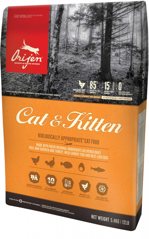 Orijen Cat & Kitten Whole Prey 5.4 kg 0064992280543