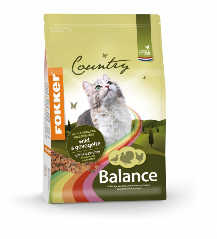 Fokker Country Balance Cat Game & Poultry 10 kg 8713447028101