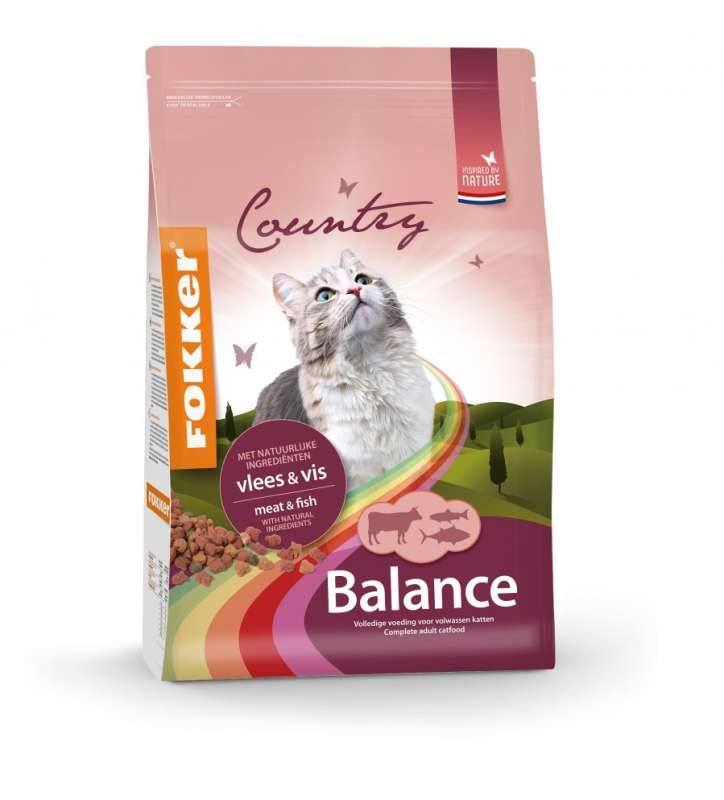 Fokker Country Balance Cat Meat & Fish 10 kg, 2.5 kg