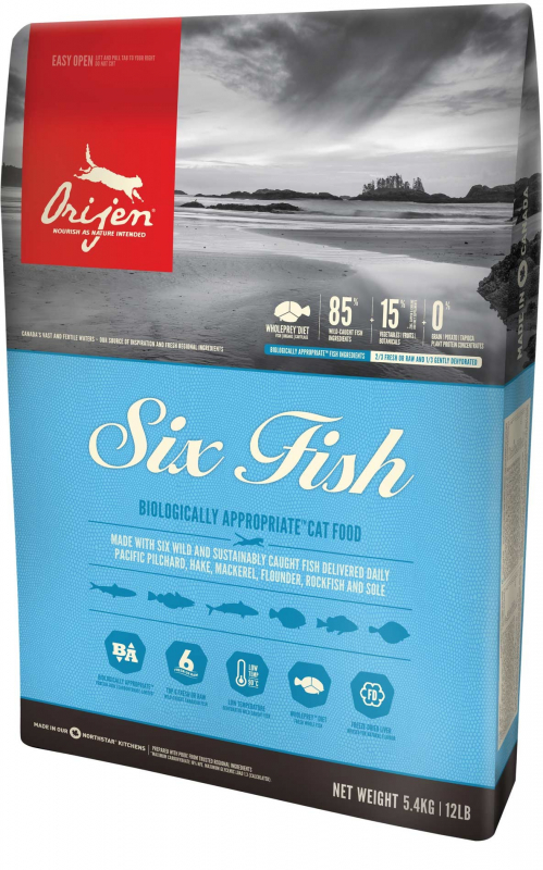 Orijen Six Fish Cat Whole Prey 5.4 kg 0064992281540