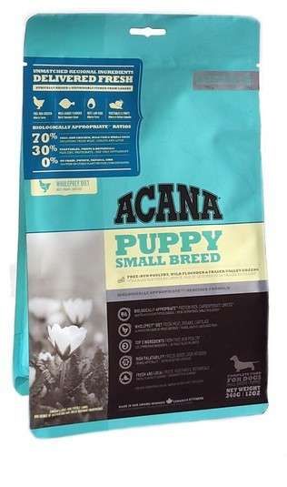 Acana Heritage Puppy Small Breed 6 kg, 340 g, 2 kg prueba
