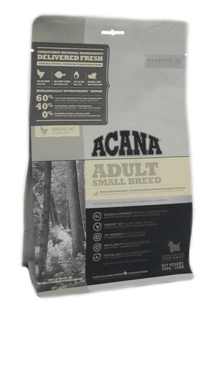 Acana Heritage Adult Small Breed 6 kg, 340 g, 2 kg