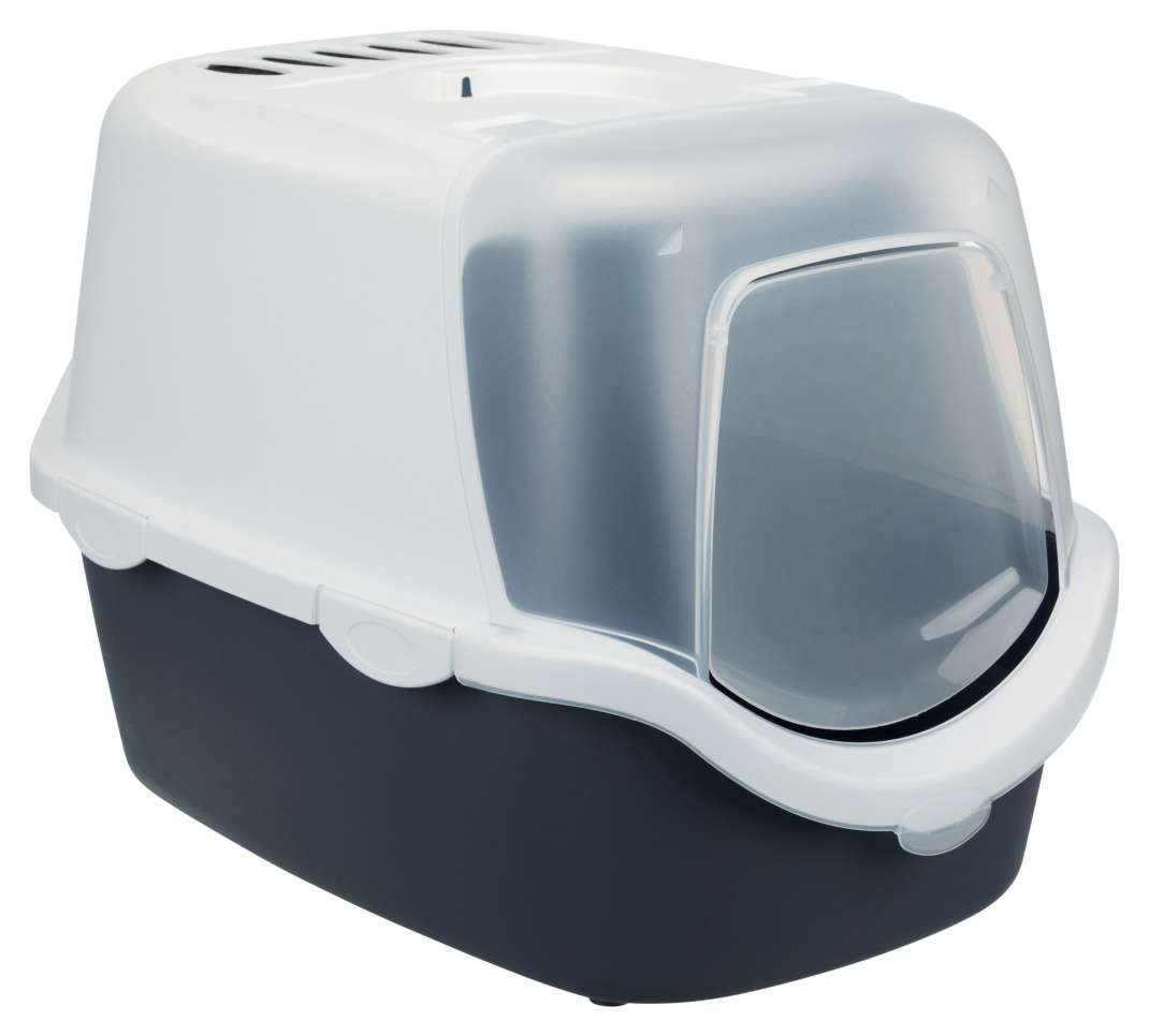 Trixie Vico Open Top Litter Tray, with Hood  Svart 40x40x56 cm