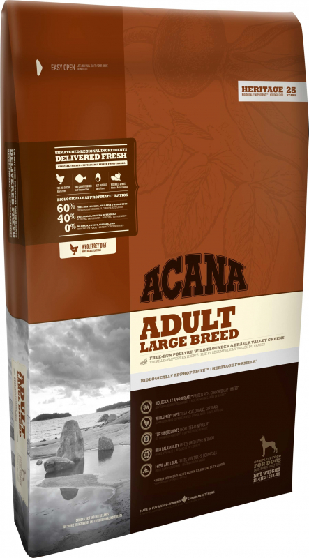 Acana Heritage Adult Large Breed 11.4 kg 0064992521110 opiniones