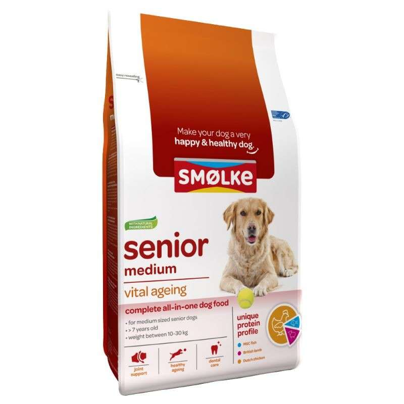 Smølke Senior Medium Vital Ageing 12 kg, 3 kg bei Zoobio.at