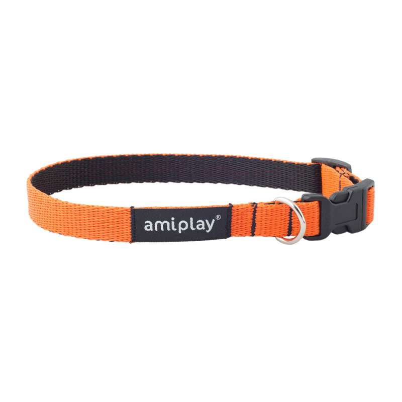 amiplay Regulierbares Halsband Twist  Orange L