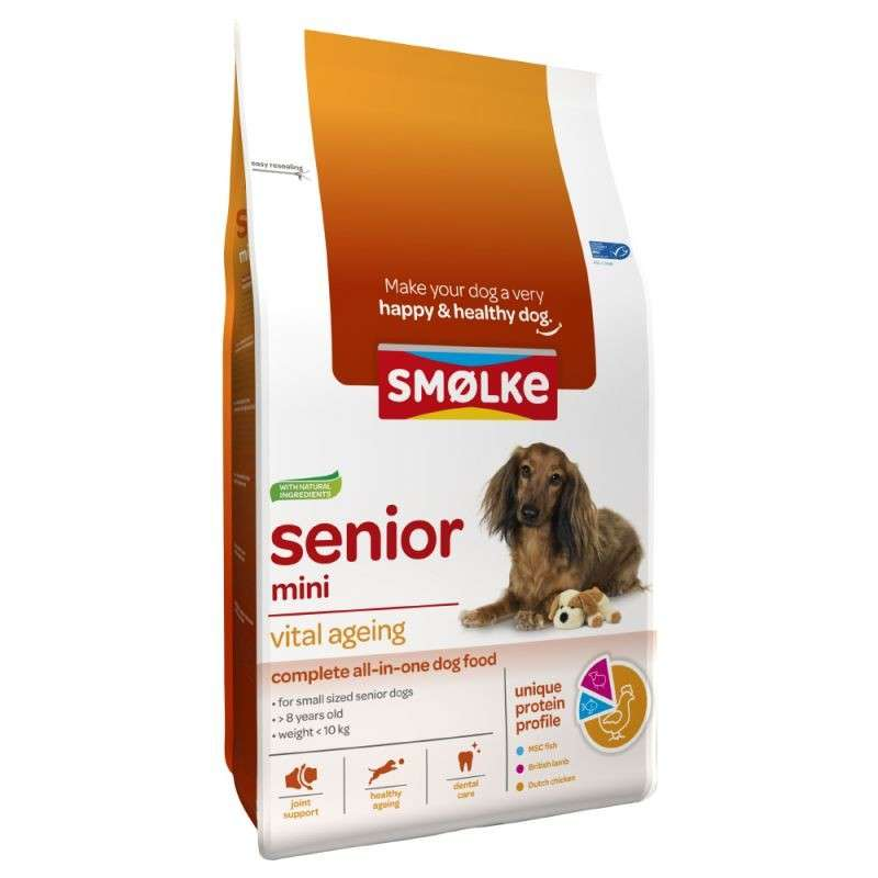 Smølke Senior Mini Vital Ageing 12 kg, 3 kg bei Zoobio.at