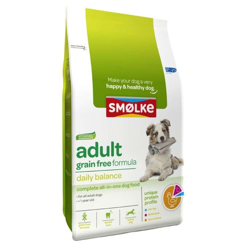 Smølke Adult Grain Free Daily Balance 3 kg, 12 kg bei Zoobio.at