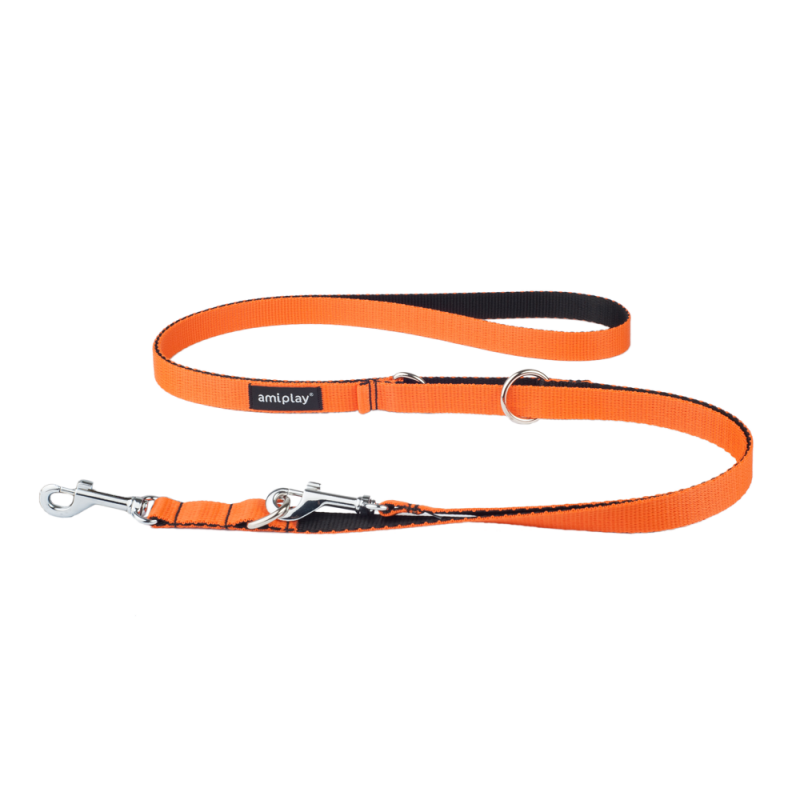 Amiplay Adjustable Leash 6 in 1 Twist  Orange L order cheap