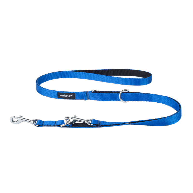Amiplay Regulierbare Leine 6 in 1 Twist  Blau L