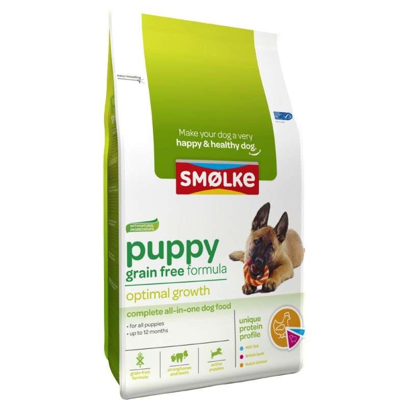 Smølke Puppy Grain Free Optimal Growth 3 kg, 12 kg