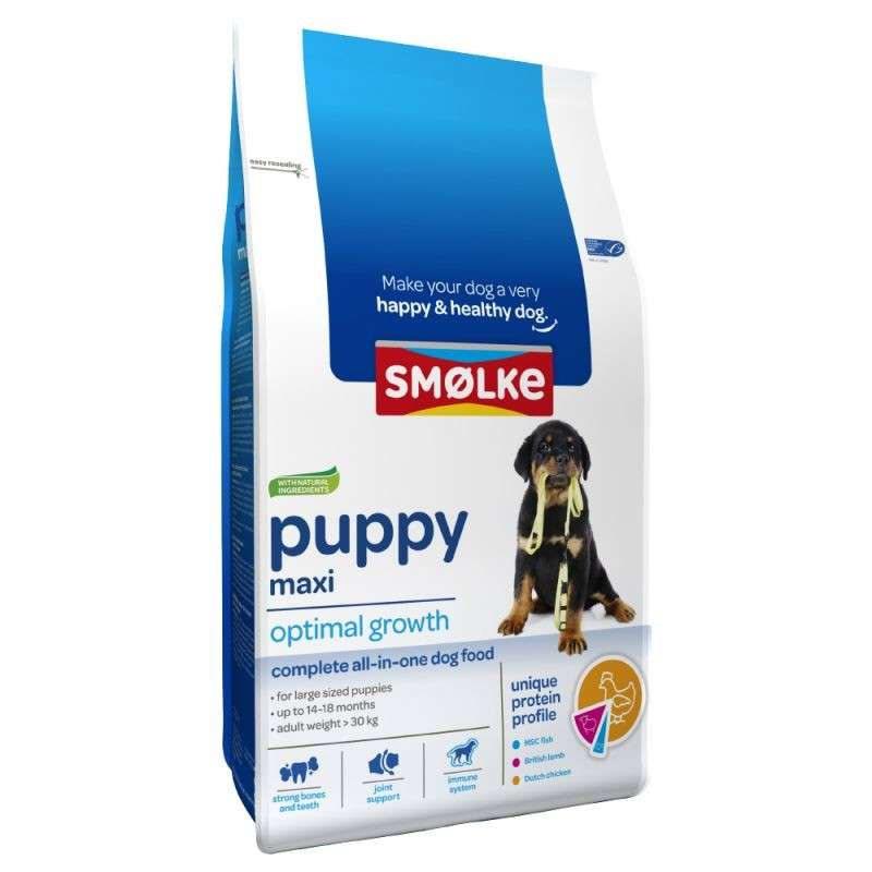 Smølke Puppy Maxi Optimal Growth 8710429018037 opinião