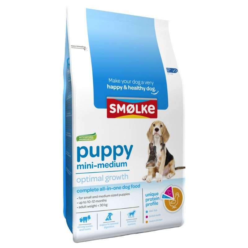 Smølke Puppy Mini-Medium Optimal Growth 3 kg 8710429018013 erfaringer
