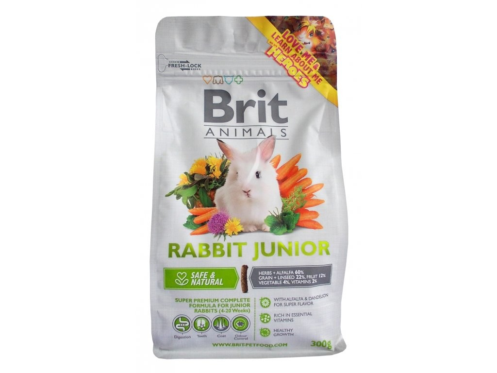 Brit Animals Rabbit Junior Complete 300 g 8595602504817