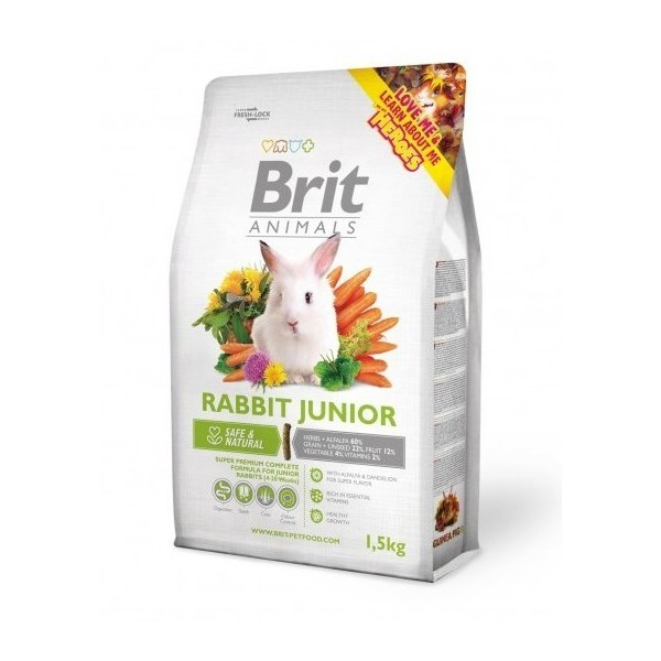Brit Animals Rabbit Junior Complete 300 g, 1.5 kg