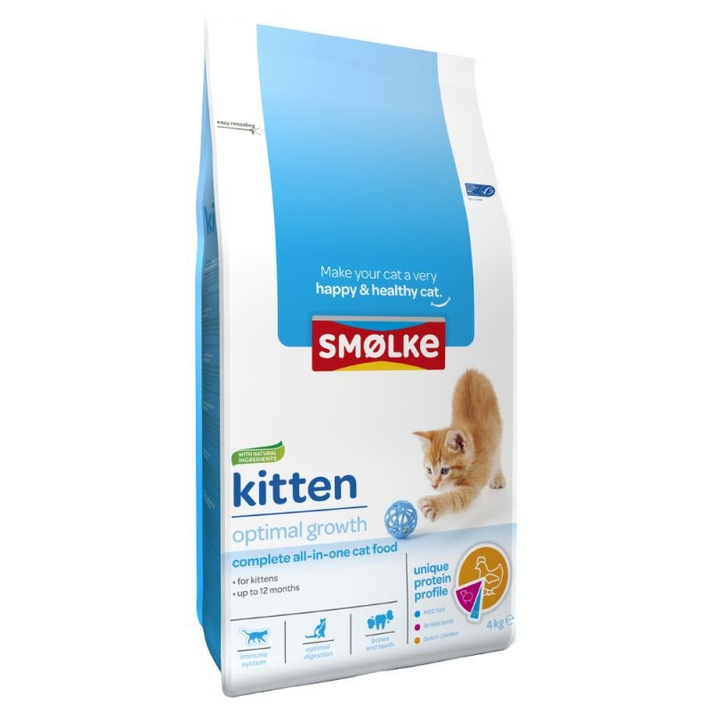 Smølke Kitten Optimal Growth 400 g 8710429017016 anmeldelser