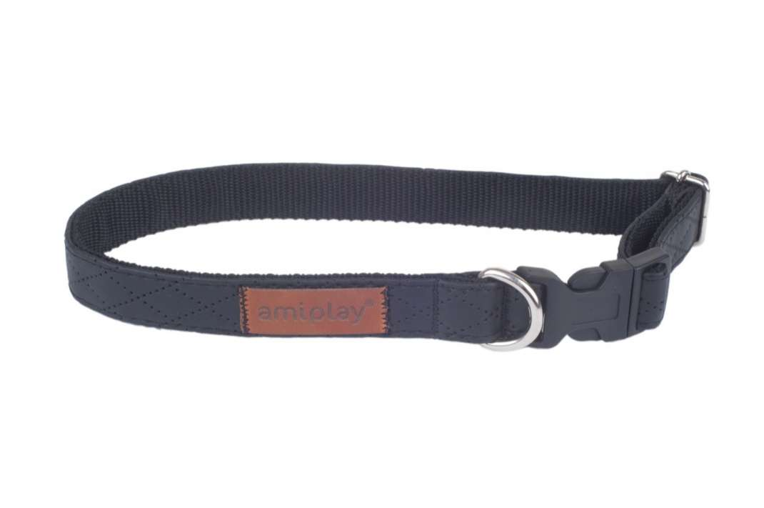 Amiplay Regulierbares Halsband Cambridge  Schwarz L